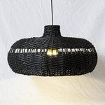 Zwart rieten lamp