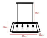 industriele lamp van glas
