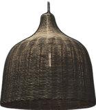 zwarte rotan hanglamp