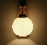 Vurenhout kleur wandlamp