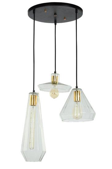 Muse Glazen Vintage Design Hanglamp, 3 Kappen Set