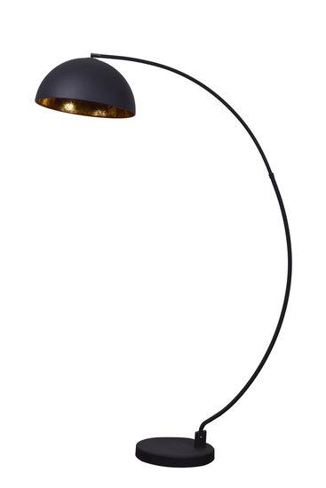 Avignon Industrieel Design Booglamp Vloerlamp Goud Zwart