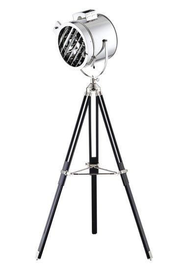 Maritieme Luxe Industrieel Design Tripod Vloerlamp Rooster Chroom Zwart