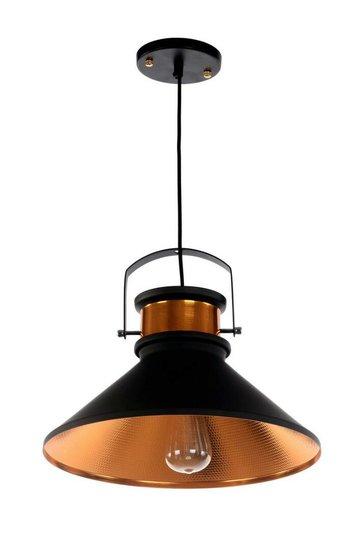 Warrior Vintage Industriële Hanglamp Zwart Goud Ø37cm