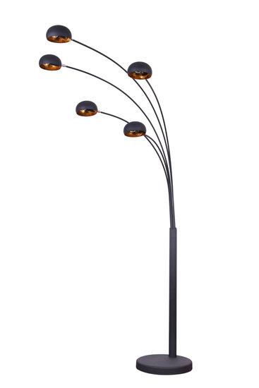 Cannes Industrieel Design Vloerlamp 5-Lichts Goud Zwart