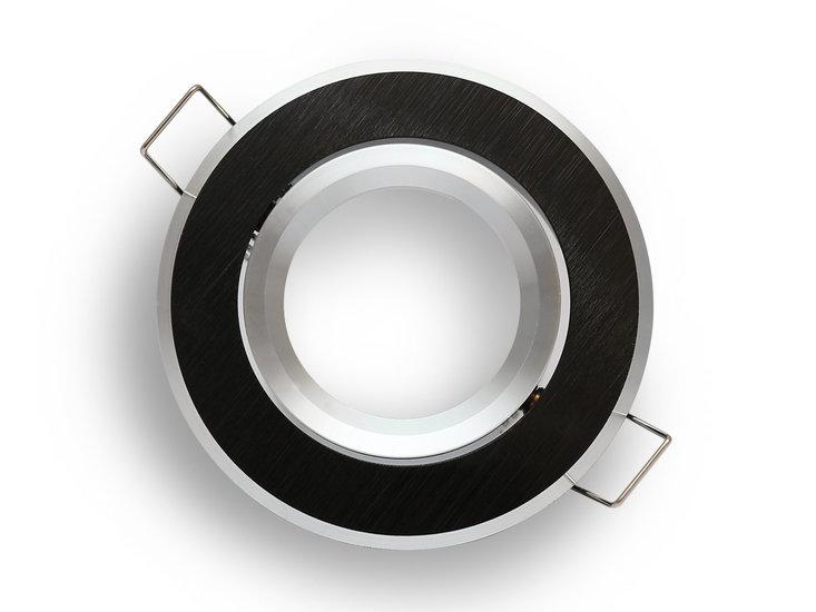 inbouwspot rond geborsteld zwart