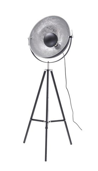 Nice Industrieel Design Tripod Vloerlamp Zilver Zwart
