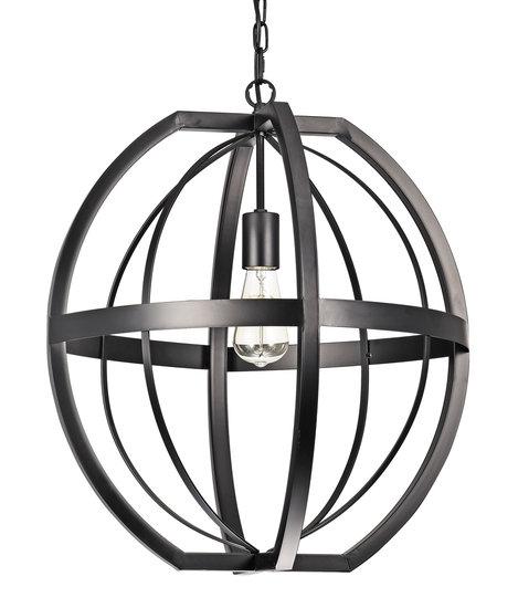 Angers Industrieel Metalen Hanglamp Ovaal Zwart