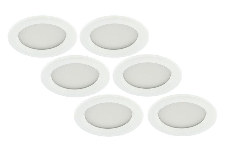 LED Inbouwspot 3W, Wit, Rond, Waterdicht IP65, Badkamer, 6-Pack