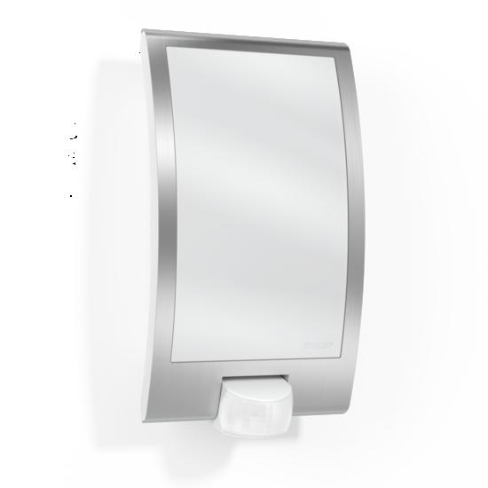Steinel L 22 Buitenwandlamp Bewegingssensor, Waterdicht IP44, Zilver, E27 Fitting