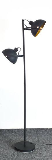 Arras Industrieel Design Vloerlamp 2-Lichts Goud Zwart
