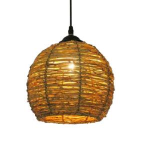 rustieke twijgen lamp