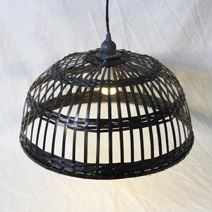 Zwarte bamboe lamp