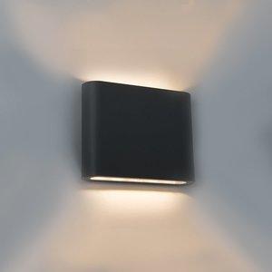 zwarte wandlamp 6 watt