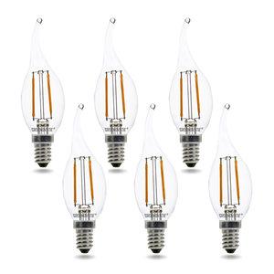 LED filament kaarslamp dimbaar 6 pack