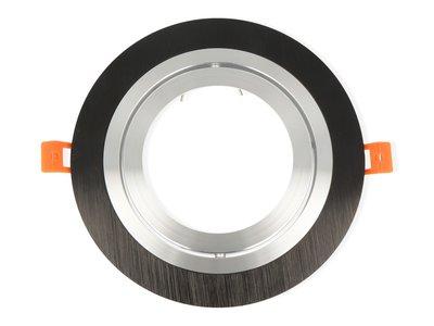 inbouwspot rond kantelbaar zwart mat