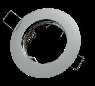 inbouwspot rond aluminium chrome