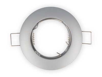 Inbouwspot, Rond, Aluminium, Vast, Mat Grijs