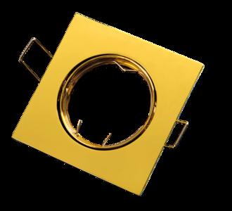 inbouwspot vierkant aluminium chrome goud
