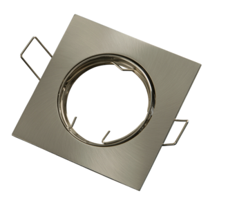 inbouwspot vierkant geborsteld aluminium satijn