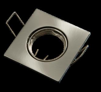 Inbouwspot MR11 35 mm Vierkant Geborsteld Aluminium Satijn