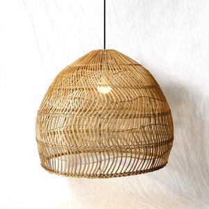 Rotan hanglamp woonkamer
