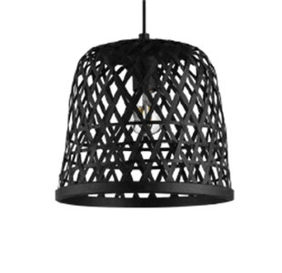 Bamboe hanglamp zwart