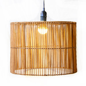 Rieten lamp