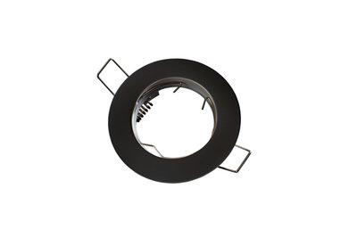 inbouwspot rond aluminium zwart mat