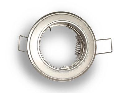 inbouwspot rond rvs look aluminium kantelbaar