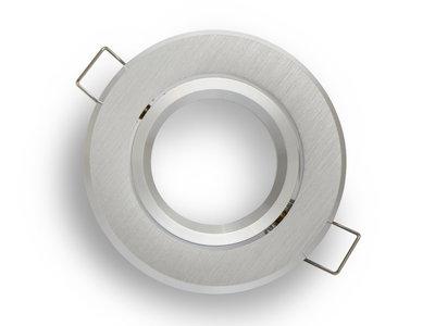 inbouwspot rond geborsteld aluminium kantelbaar