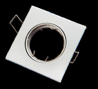 inbouwspot vierkant kantelbaar wit mat aluminium