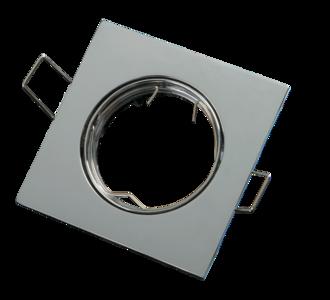 inbouwspot vierkant chrome aluminium