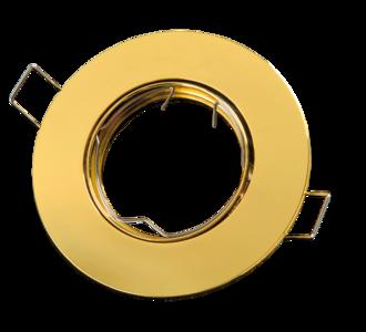 inbouwspot rond aluminium goud