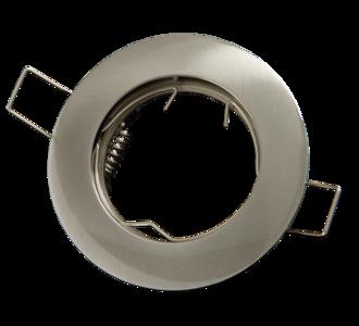 inbouwspot rond geborsteld aluminium rvs look