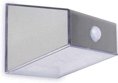 Solar Wandlamp Tuin : Led solar wandlamp voor buiten schemersensor rvs