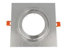 inbouwspot vierkant kantelbaar aluminium