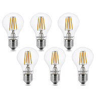 E27 LED Filament Lamp 4W Warm Wit 6 pack